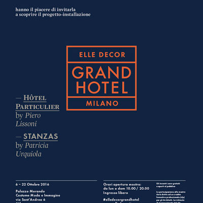 """Elle Decor Grand Hotel""- design hotellerie"