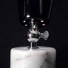Carrara marble/chrome/black